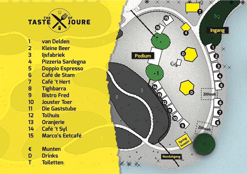 Plattegrond Taste of Joure 2017